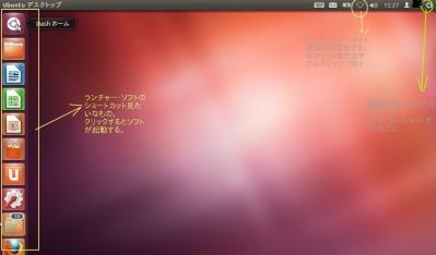 Linux・Ubuntu起動画面の説明